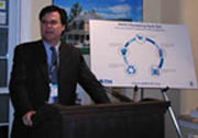 Housing and Urban Development Assistant Secretary Dennis Shea introduced the Tech Sets program at IBS 2005.