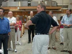 Advisory Committee tours Bensonwood facility.