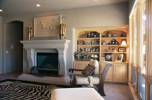 Built-in bookshelves can be a beautiful touch to a finished basement