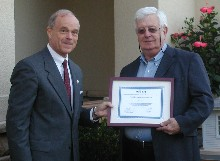 David Seitz receives certificate for Microtherm.